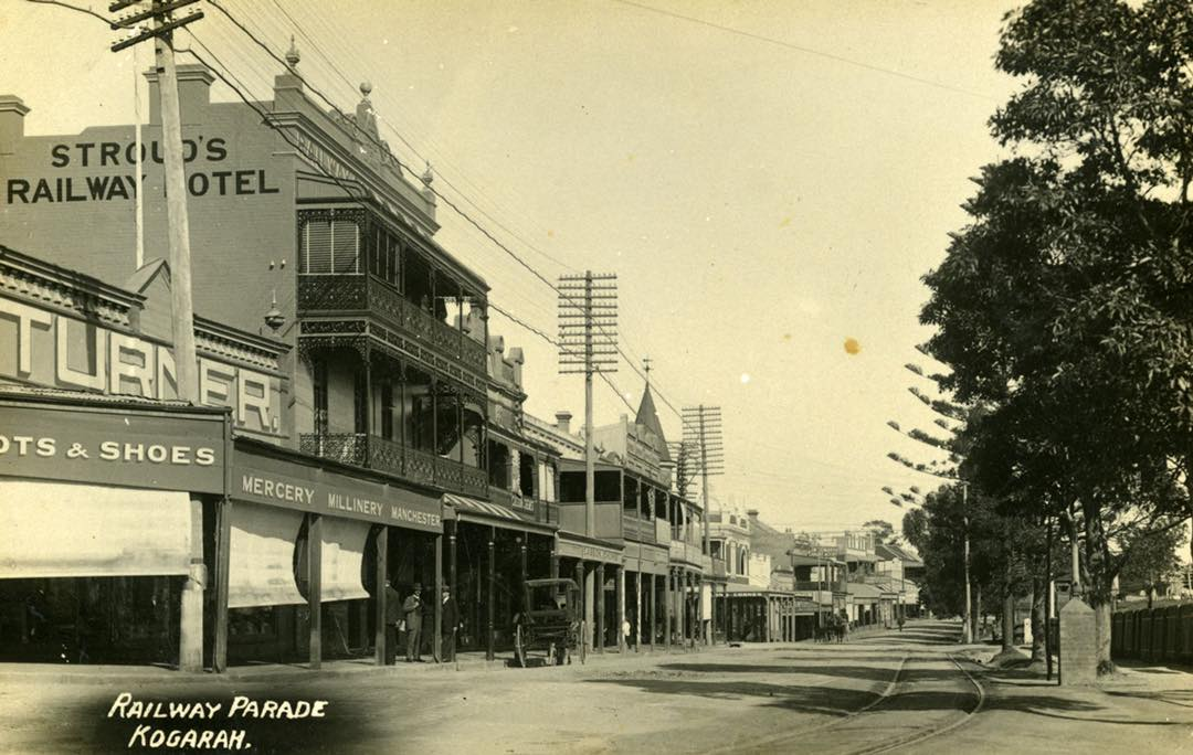 Railway Parade, Kogarah, 1915